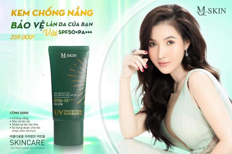 Công dụng của kem chống nắng nhân sâm MQ Skin