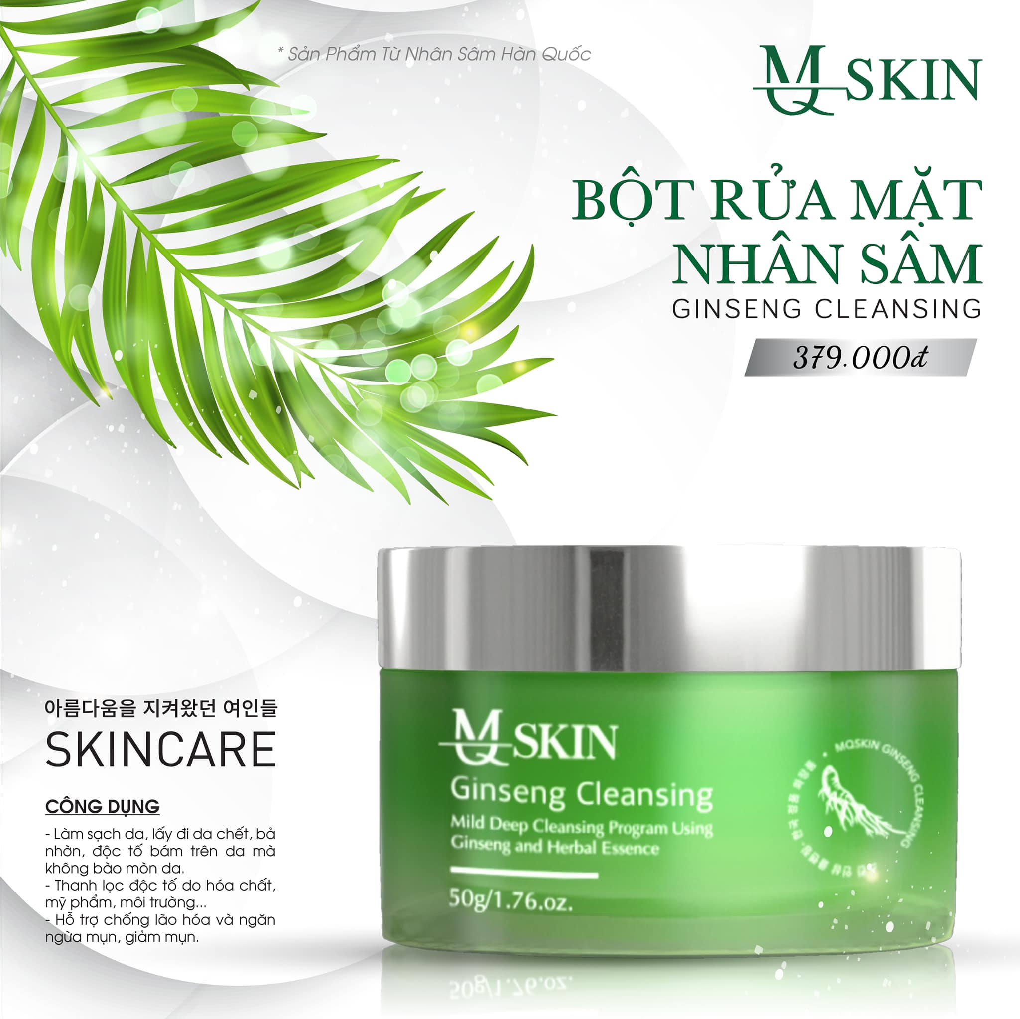 Bí quyết làm sạch da đúng chuẩn chỉ có thể là bột rửa mặt MQ Skin
