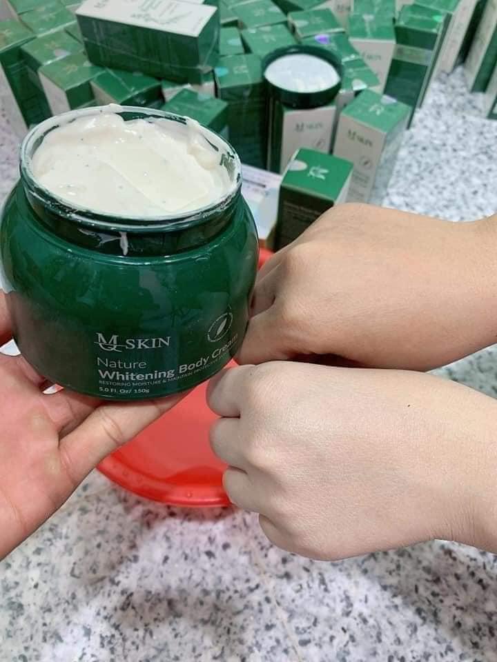 Kem body dưỡng trắng tinh thể diệp lục của MQ Skin